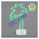 LED NEON light on foot palm, 28cm h