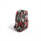 Canvas skull roses backpack