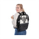 Banned Androginy Pattern skull backpack