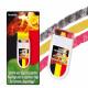 Fan-Schminke im Blockstift, Belgienflagge
