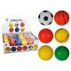 Solid rubber ball, ca. 6 cm, 6 ass., 48 pcs. per d