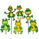 Plastic Gartenstecker, Agile Frog, ca.