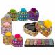 Colorful Heart Jewelery Box with Pom Pom, approx.