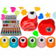 Plastic punch, approx. 3 cm, 8 times assorted ,