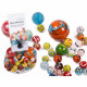 Glass marbles, multicolored assorted, 500 g in the