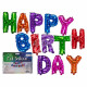 Colored Foil Balloon Set, Happy Birthday , 13
