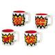 Ceramic Mug, slogans, about 15 x 11 cm, 4 times as