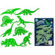 Dinosaurs, glow in the dark, about 15 cm