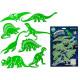 Dinozaury, świecą w ciemności, około 15 cm