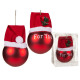 Bola del árbol de navidad roja hecha de cristal co