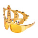 Fun Party Glasses Shape: crown gold with stones
