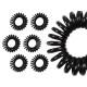 100 gomma capelli a spirale nera, diametro ca. 3 c