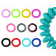 100 Spiral hair rubber multicolored, Ø 4 cm