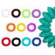 100 Spiral hair rubber multicolored, Ø ca. 3 cm