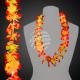 Hawaiian Flower Necklace orange with light