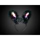 Hairband bunny ears Bunny Light Feathers black