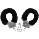 Karneval Fasching Handschellen mit Plüsch schwarz