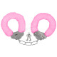 Carnival pink handcuffs with plush
