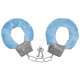 Carnival Handcuffs with plush blue