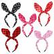 Hairband black rabbit ears points unisize