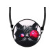 Round motif handbag design: Crazy cat