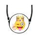 Round motif handbag design: Emoji King Con