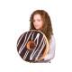 Donut Pillows * chocolate icing * Ø 40 cm