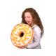 Donut Kissen Weiße Glasur mit Orangenstücken
