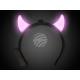 LED leuchthaarreifen pink Motiv: short Teufelshorn