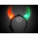 LED light hairband 2 colored red green