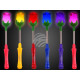 LED assorted flower assorted on metal spring