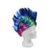 Perücken mit Irokesen Haarschnitt dunkelblau