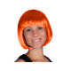 Short hair wig with bob haircut orange