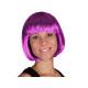 Short hair wig with bob haircut purple / violet