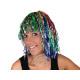rainbow tinsel wig with bob haircut