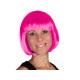Short hair wig with bob haircut pink