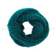 Ladies Scarf Style: knit color: petrol