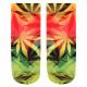 Motif socks Weed yellow green red