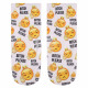 Motif socks Emoticon Emoji Bitch please white gel