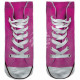 Motive socks pink white shoes casual