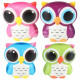 Squishy squeeze antistress owl multicolor