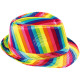 Trilby hat colorful rainbow
