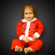 WK-96 Christmas costume for boys-2-section without