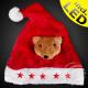 Santa hat red Motiv: Bear 5 red stars