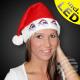 WM-57 Santa hats flashing 3 large heads Nicholas
