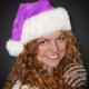 Kerstmutsen Kerstman gemaakt van dikke paarse pluc