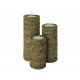 Bamboo Candle Set of 3, 16, 21 and 25 cm