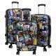 Polycarbonate luggage 3tlg City III