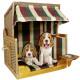 Psy - beżowy fotel plażowy