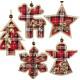 Tree decorations checkered 9cm Christmas tree deco